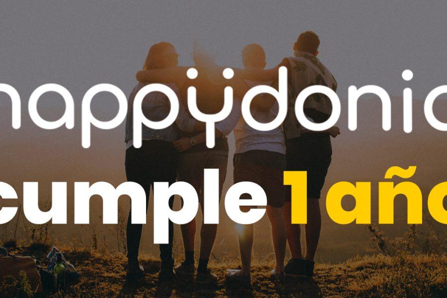 Primer aniversario Happÿdonia, seguimos avanzando para ser la mejor app de comunicación interna para empresas