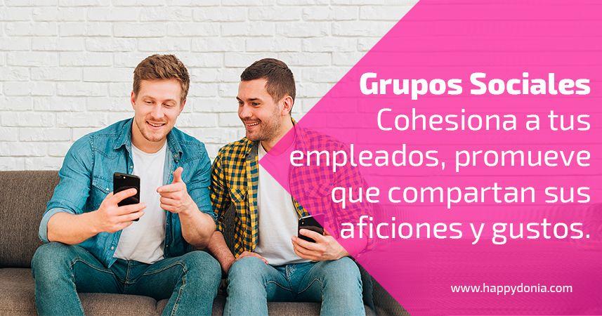 Crear grupos sociales en Happÿdonia ayuda a dinamizar y cohesionar a tus empleados.