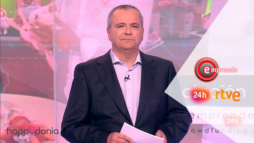 Happÿdonia en rtve en Emprende Tv del canal 24 horas