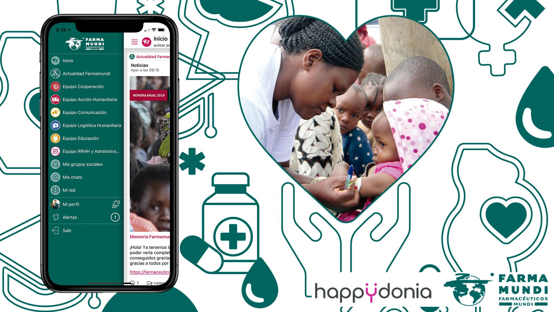 Nos unimos a Farmamundi, la ONG conectará a todo su equipo a través de Happÿdonia