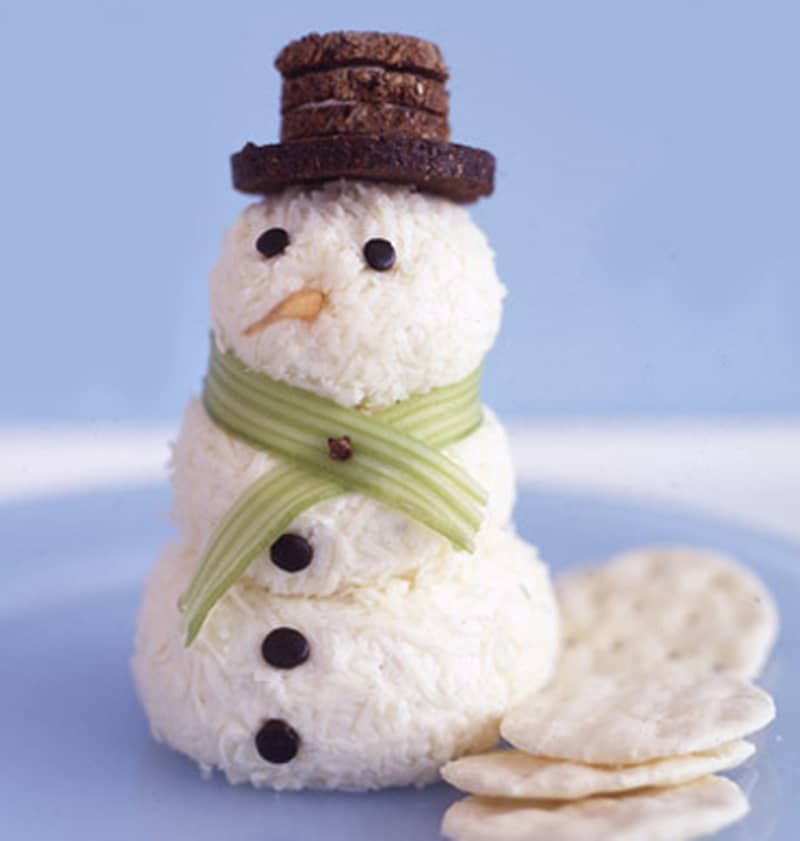 Muñeco de nieve de queso