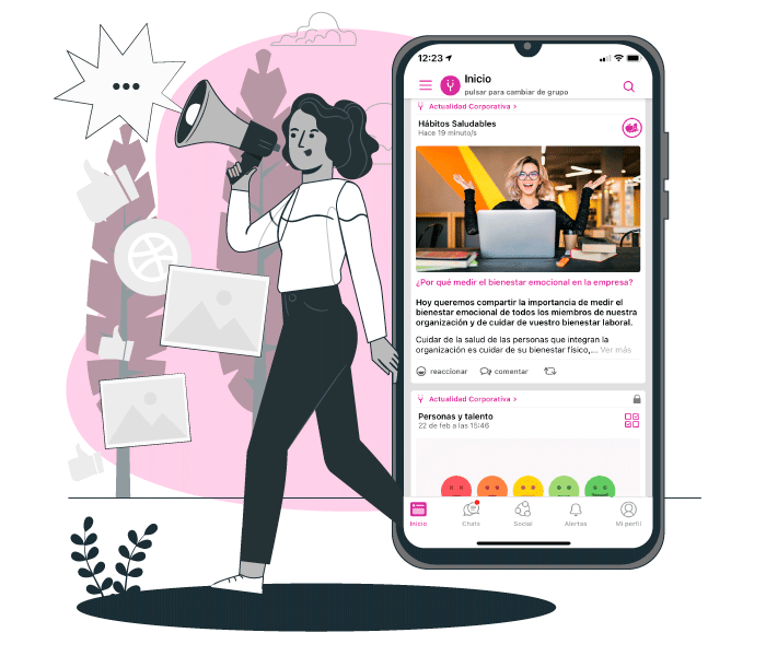 Happÿdonia is the perfect tool to communicate to all your workers